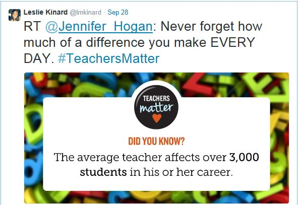 Retweet Teachers Matter